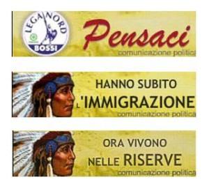 Lega Nord  contro l'immigrazione