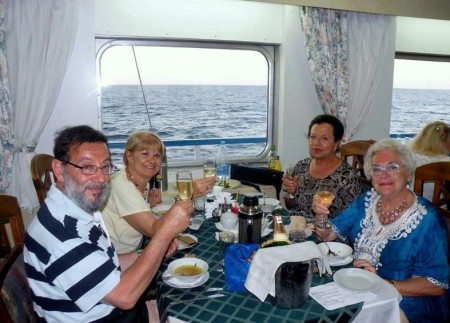 24 luglio brindisi con Maria Teresa e Bruna