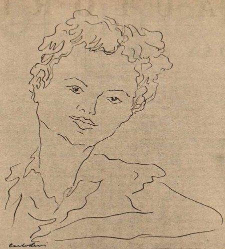 Carlo Levi; ritratto di Elsa Morante