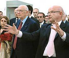Il presidente Napolitano con Louis Godard