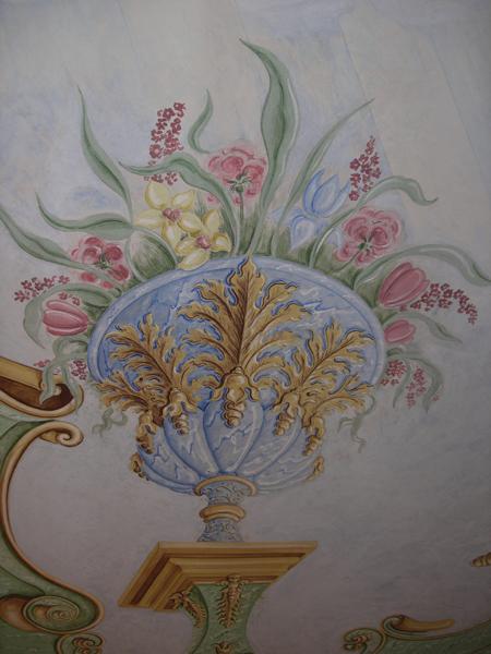 Salone della portineria - vaso-fiorito