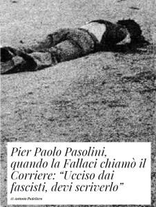 L'uccisione di Pasolini e la Fallaci